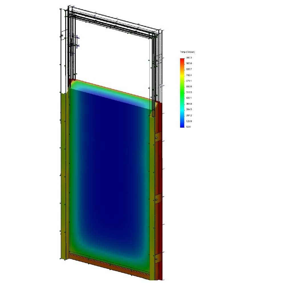 21_Results of numerical calculation of temperature conductance  of alternative door structure