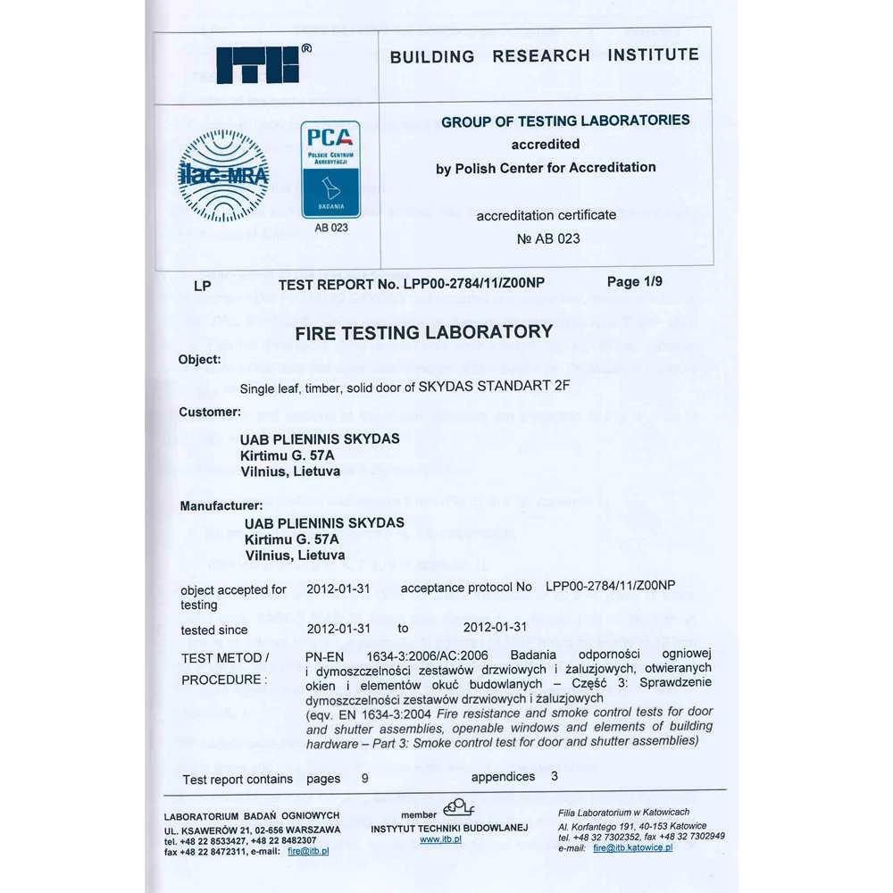 04_Test report of fire testing laboratory