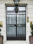 0016_Security front door with decorative steel bars
