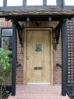 0039_Security door with biometric lock perfectly matched to oak framed house
