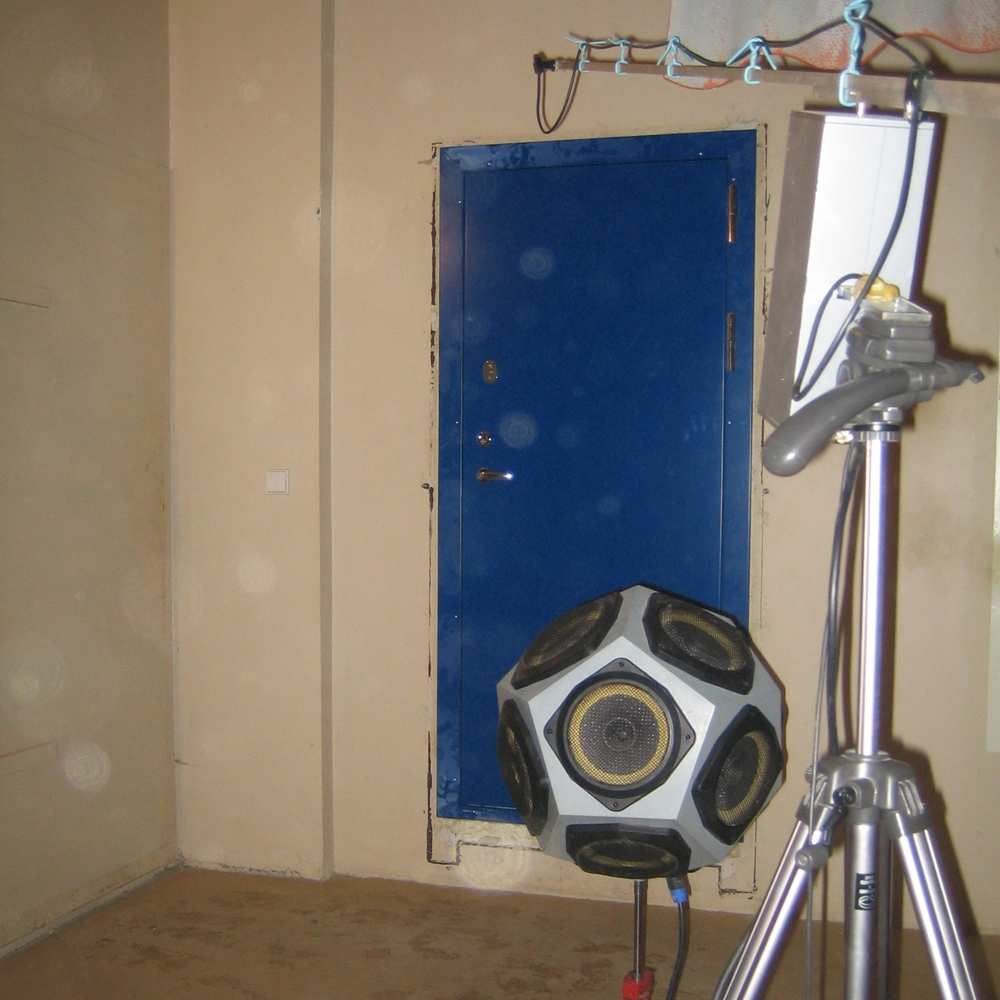 04_Device to test soundproofing of installed Skydas - Premium security level 4 door